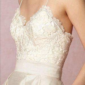 Chic BHLDN two piece Wedding dress